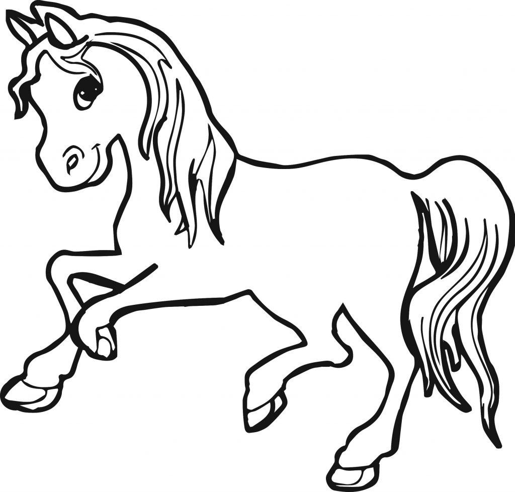 Coloriage poney adorable