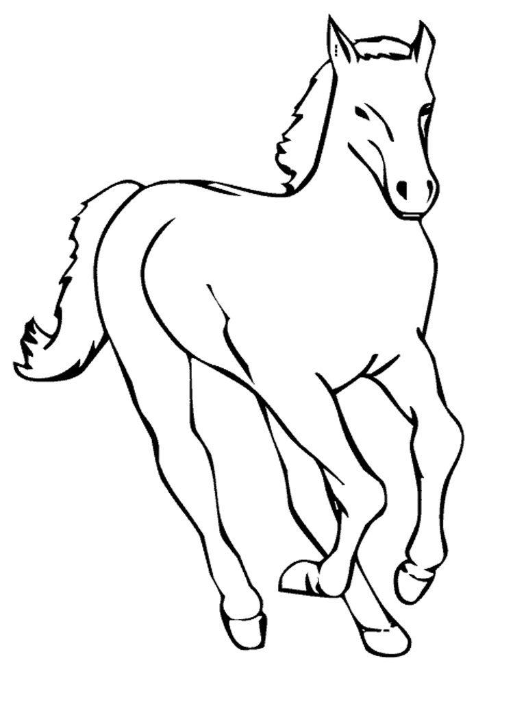 Coloriage poney gratuit