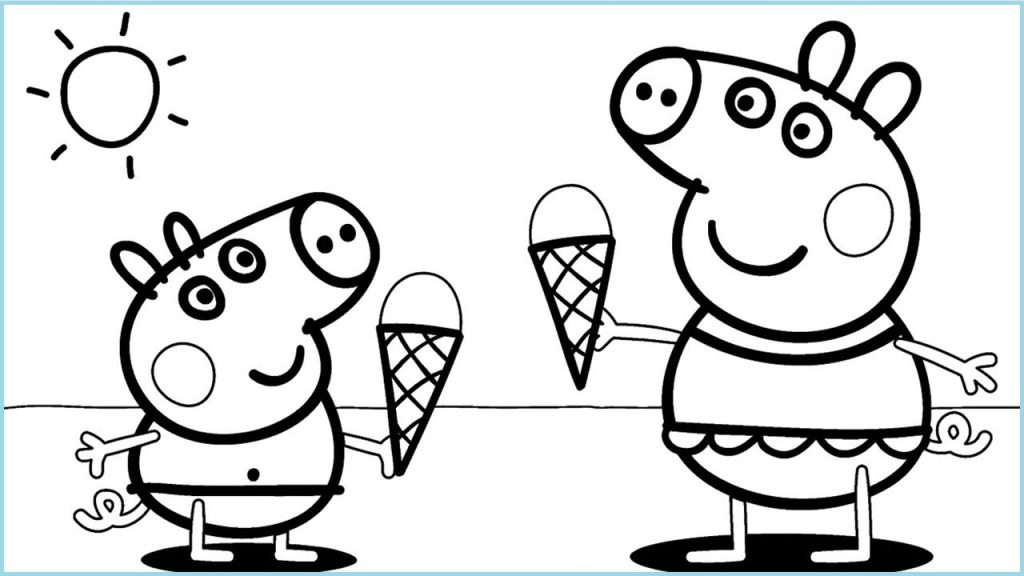 Coloriage Peppa Ice Cream