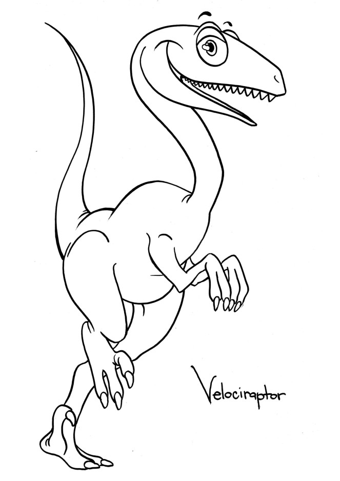 Coloriage Velociraptor à imprimer