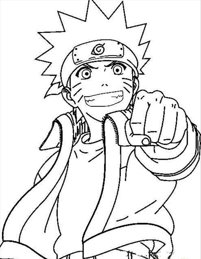 Coloriage Naruto pour les enfants