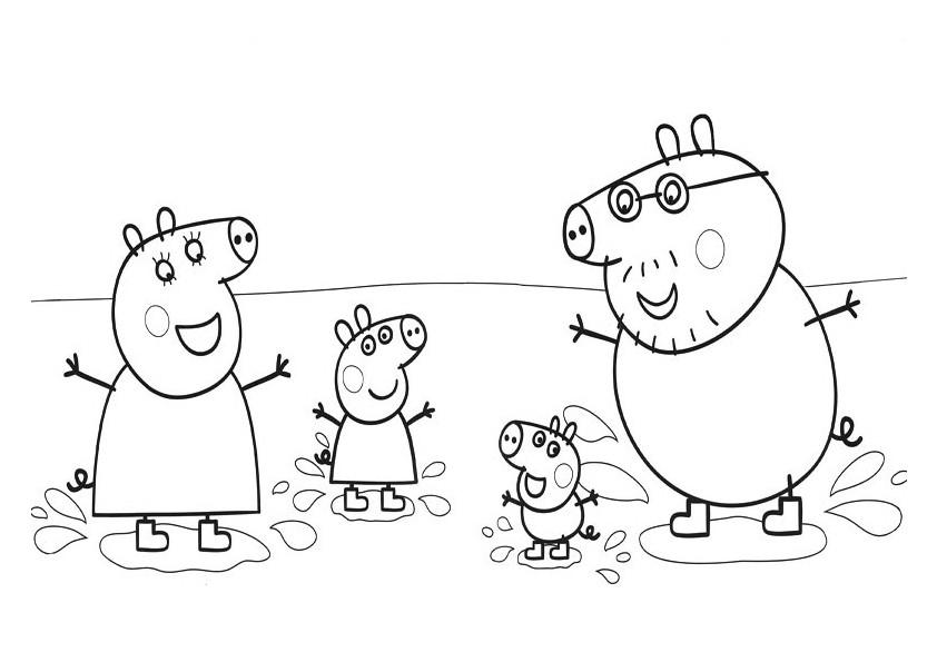 Coloriage Peppa Pigs