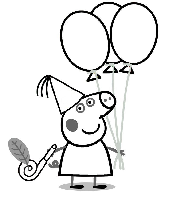 Coloriage Anniversaire Peppa Pig
