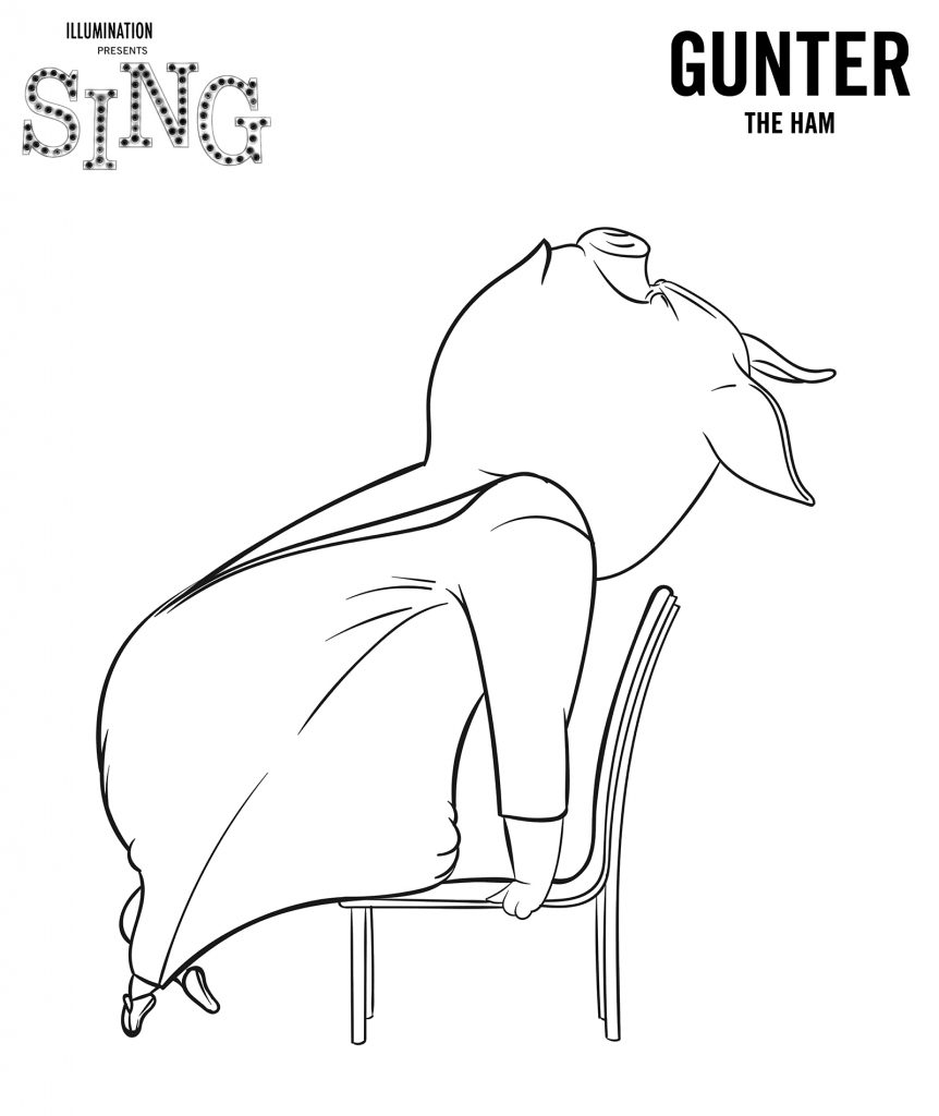 Gunter de Sing à colorier