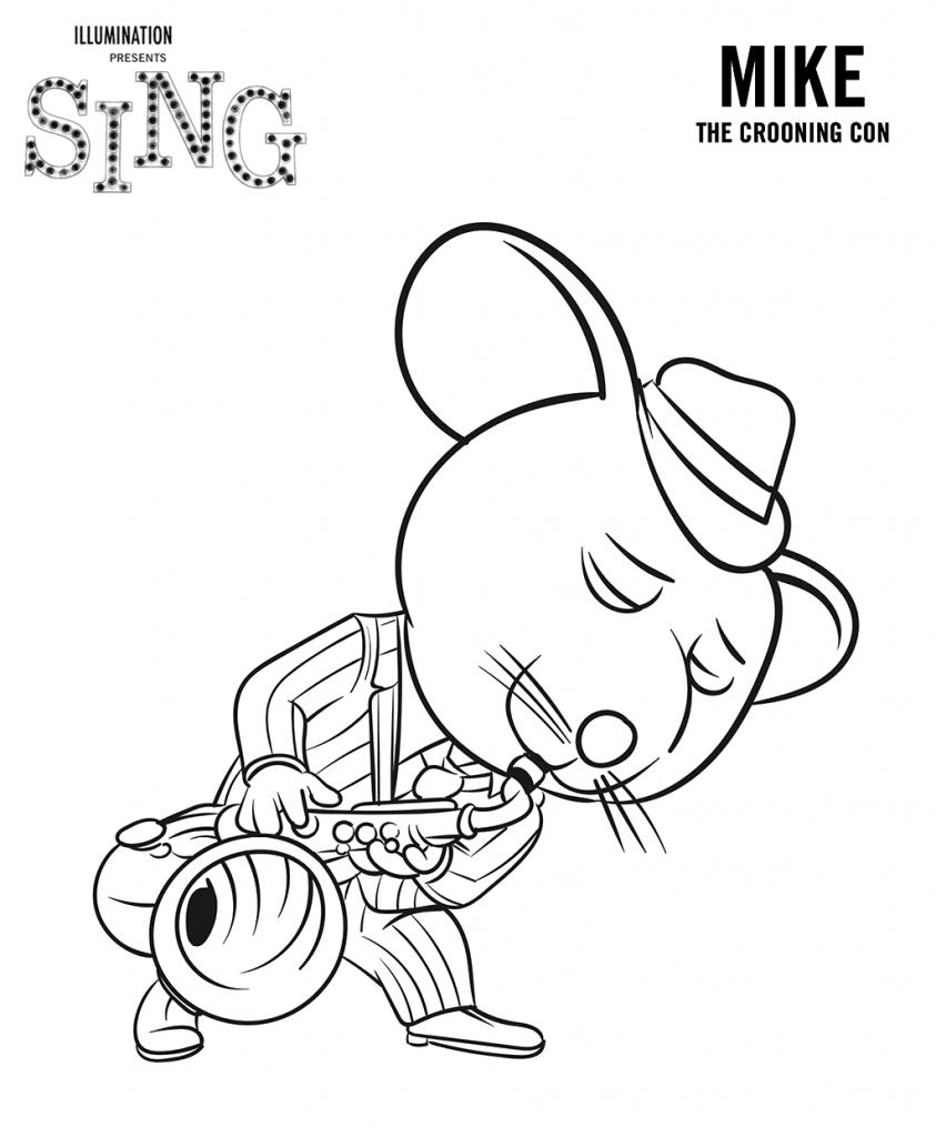 Mike de Sing à colorier