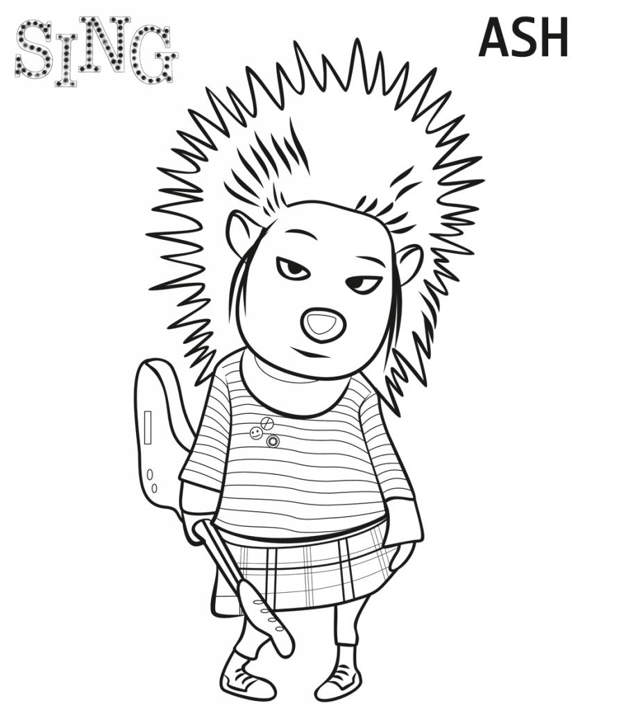 Imprimer les cendres de Sing à colorier