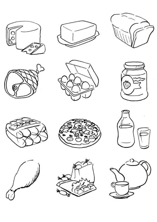 Coloriages de nourriture pour enfants