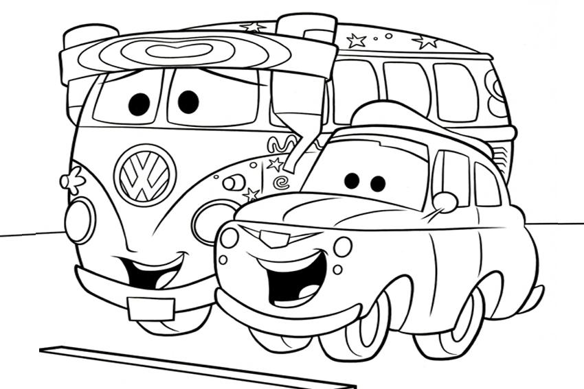 Coloriage gratuit de voitures à imprimer