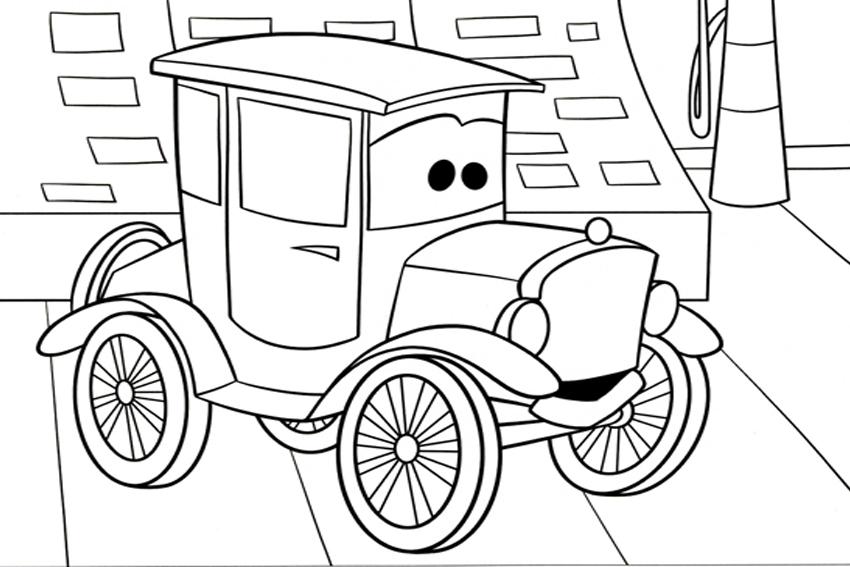 Coloriages de voitures - Lizzie