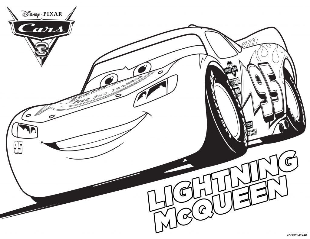 Coloriages de voitures - Lightning McQueen