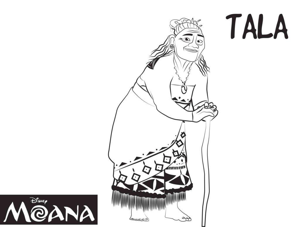 Coloriage Moana - Tala