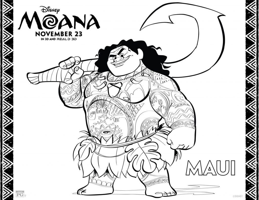 Coloriage Moana gratuit à imprimer - Maui