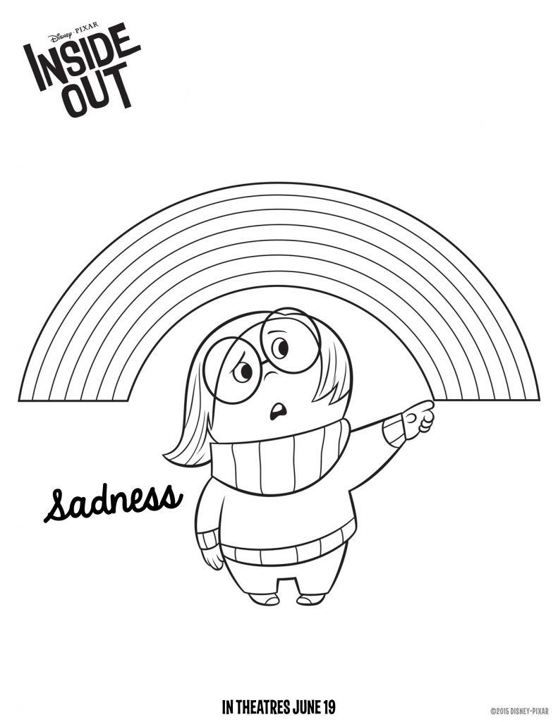 Coloriage de tristesse à l'envers
