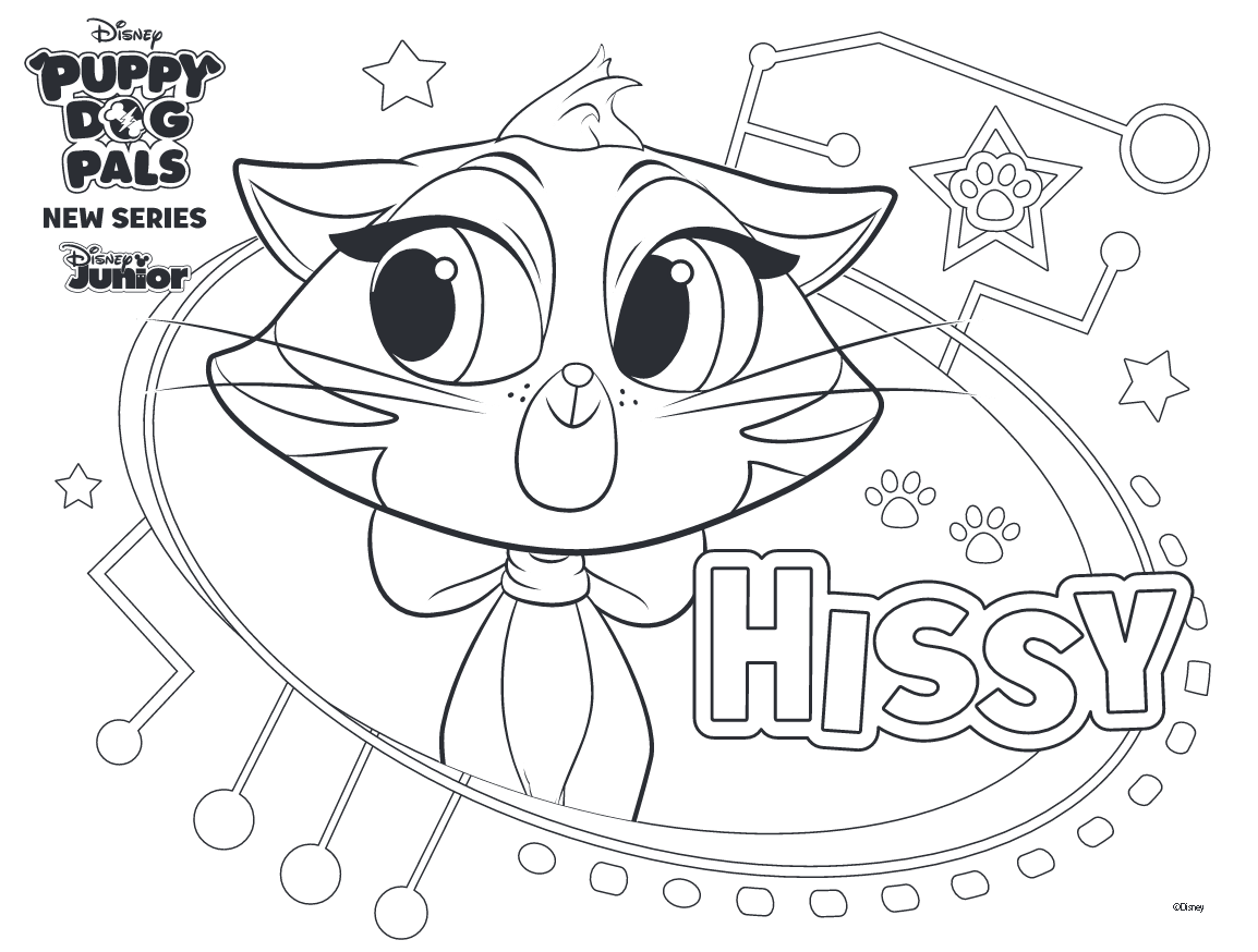Coloriage chiot hissy