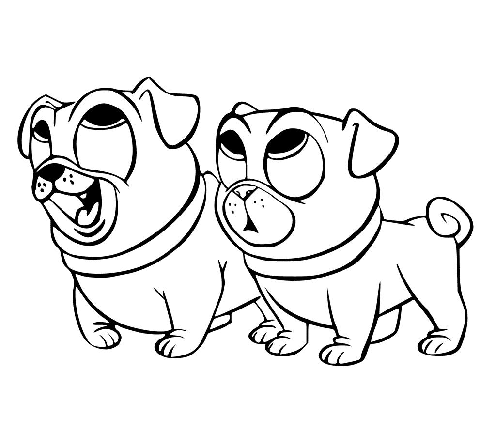 Coloriage chien chiot