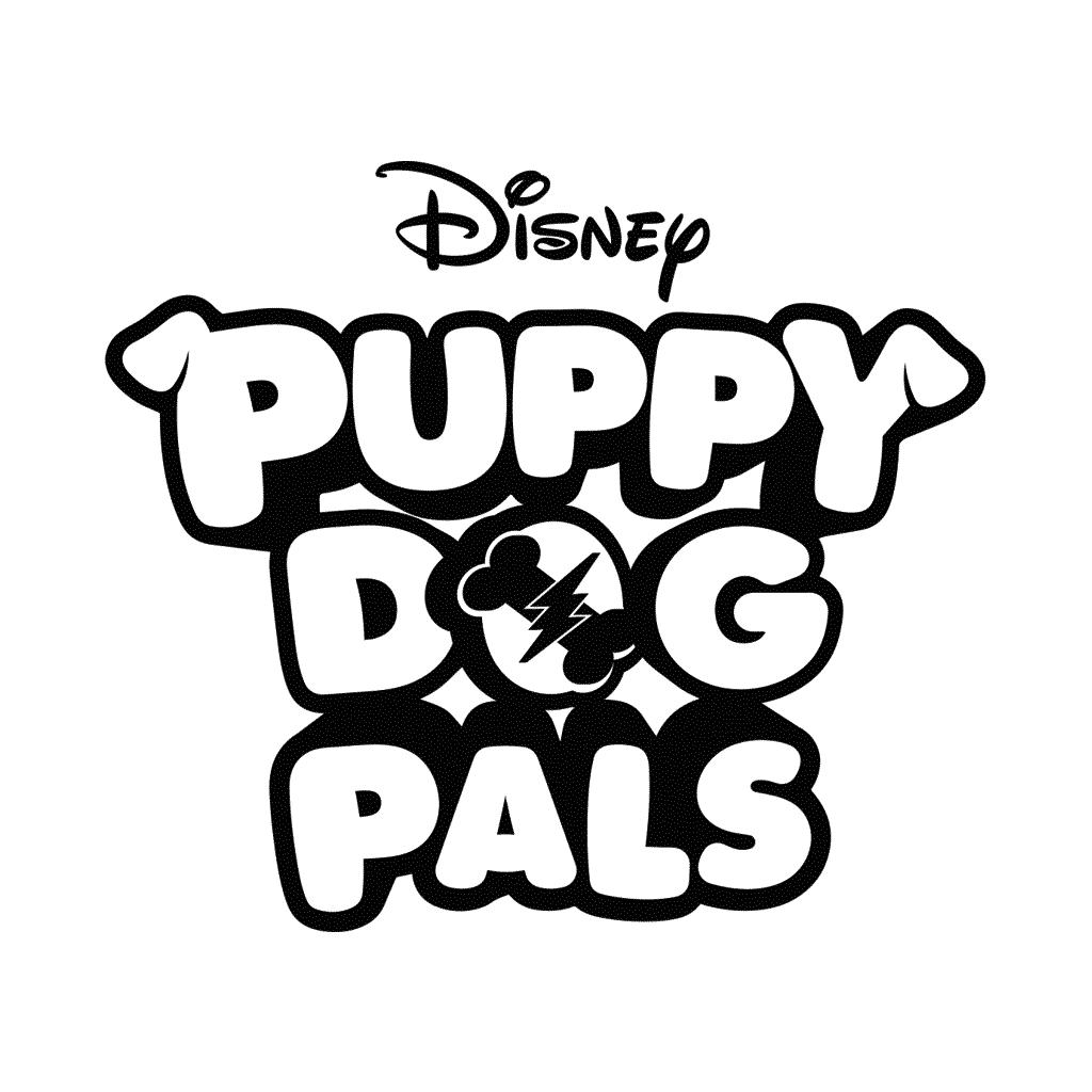 Coloriage chiot chien copains logo