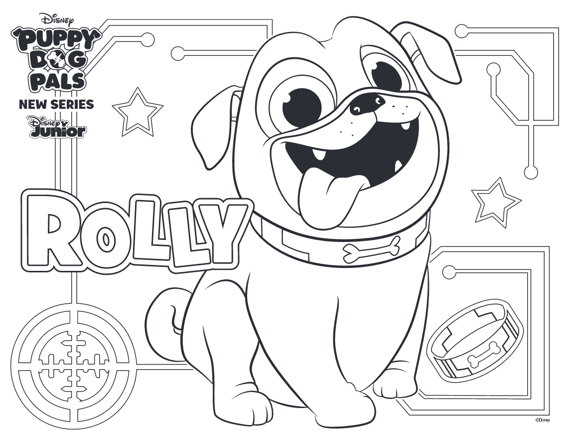 Coloriage rolly chiot