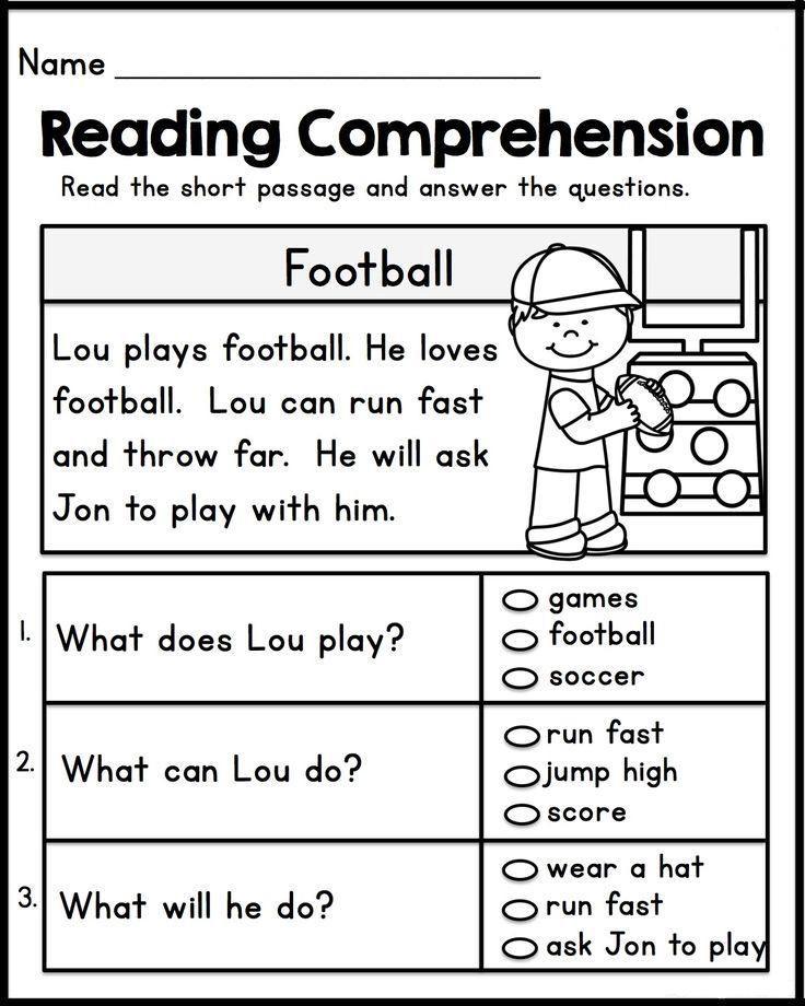 1st Grade Reading Worksheet