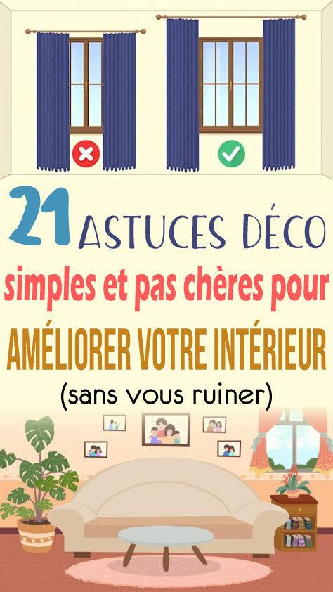 21 Astuces déco simples et pas chères pour améliorer votre intérieur (sans vous ruiner)