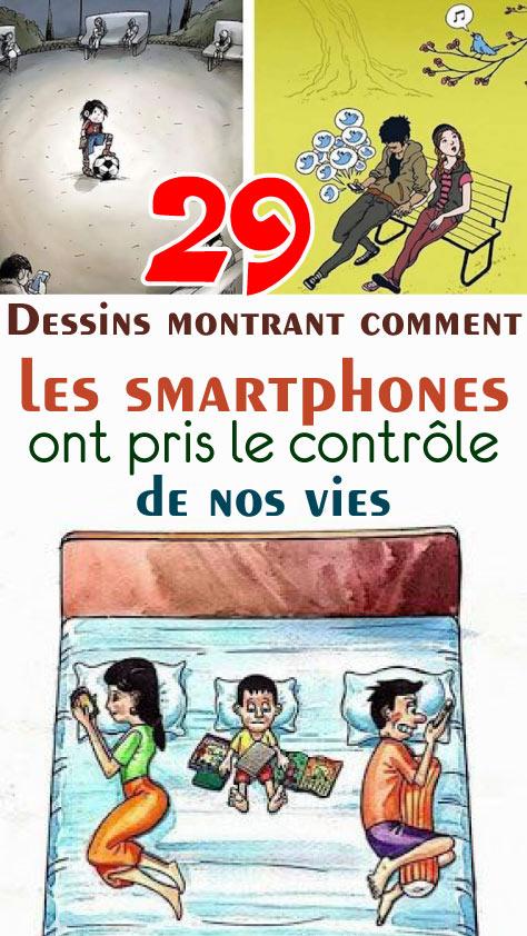 29 Dessins montrant comment les smartphones ont pris le contrôle de nos vies