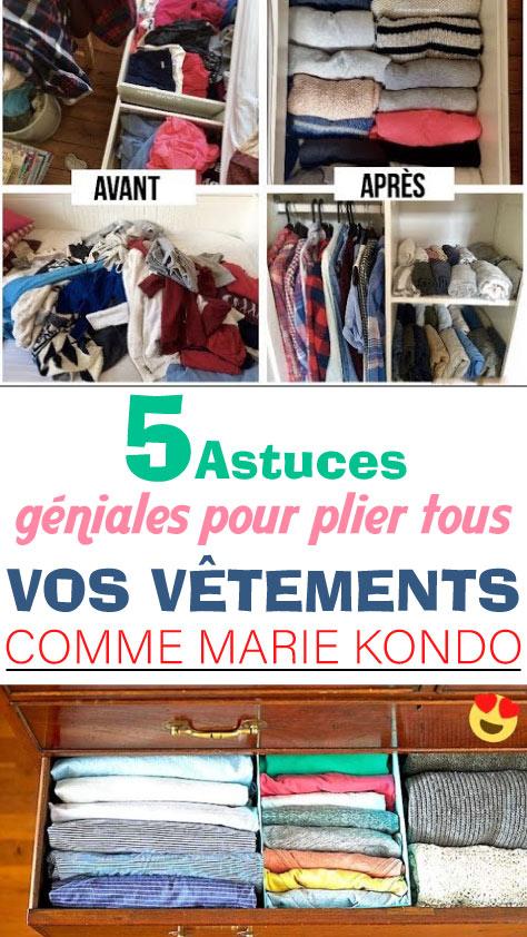 5 Astuces géniales pour plier tous vos vêtements comme Marie Kondo