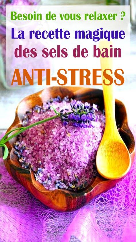 Besoin de vous relaxer ? La recette magique des sels de bain ANTI-STRESS