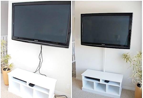 Cachez les câbles de votre télé avec cette astuce