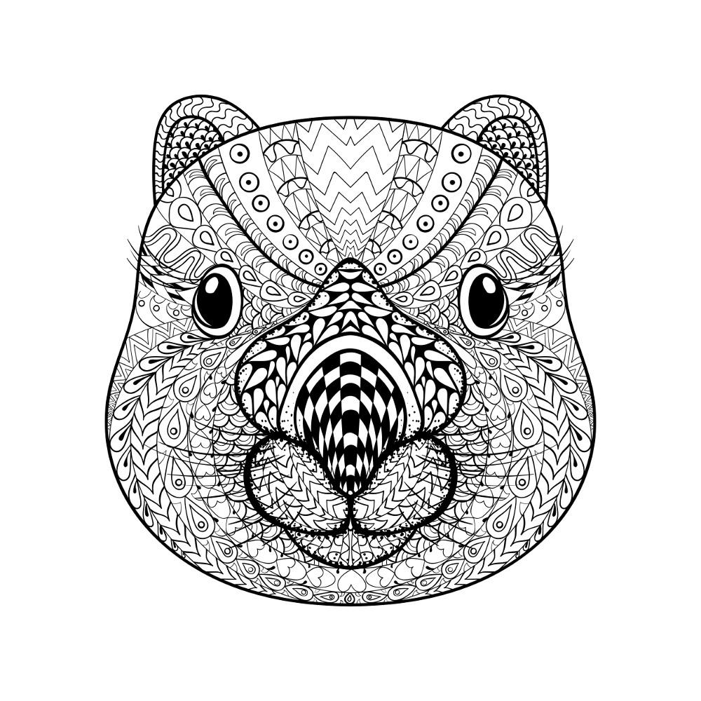 Coloriage animaux à imprimer pour adultes