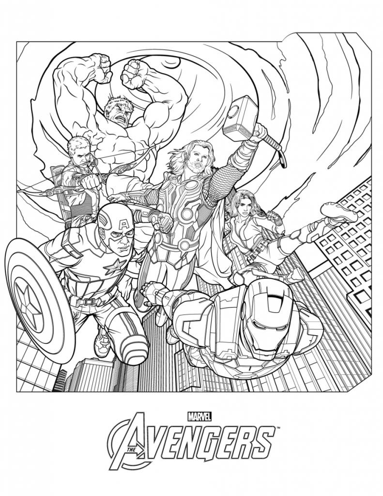 Marvel Avengers à colorier