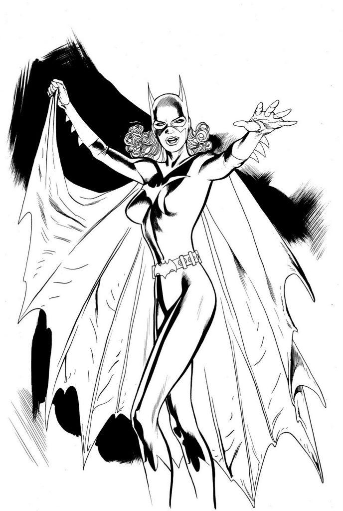 Batgirl à colorier