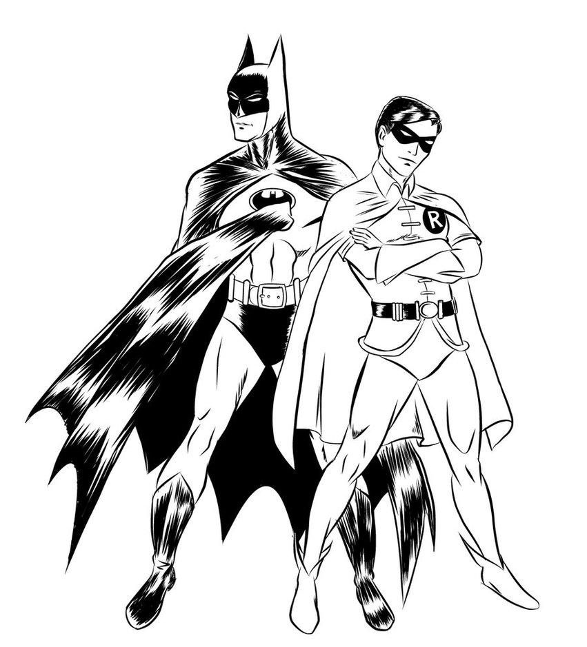 Coloriage Batman et Robin