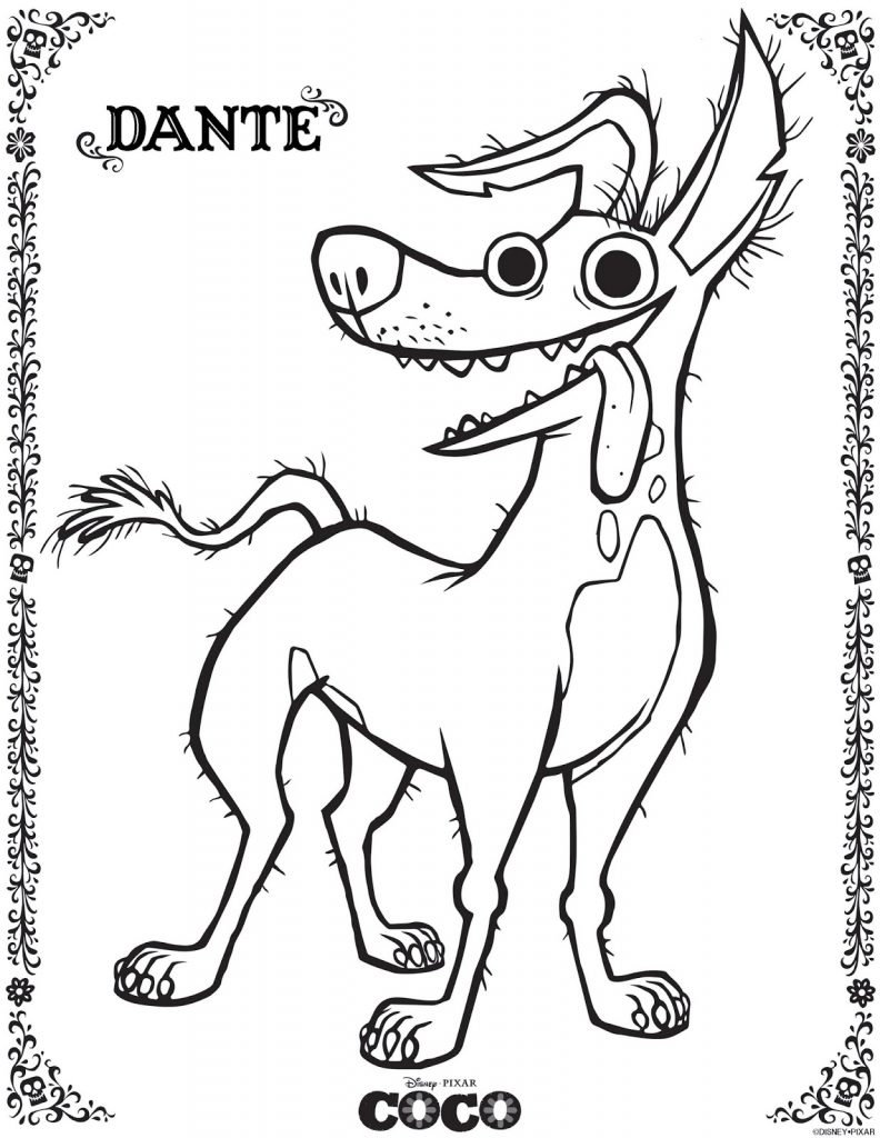 Dante - Coloriages Coco