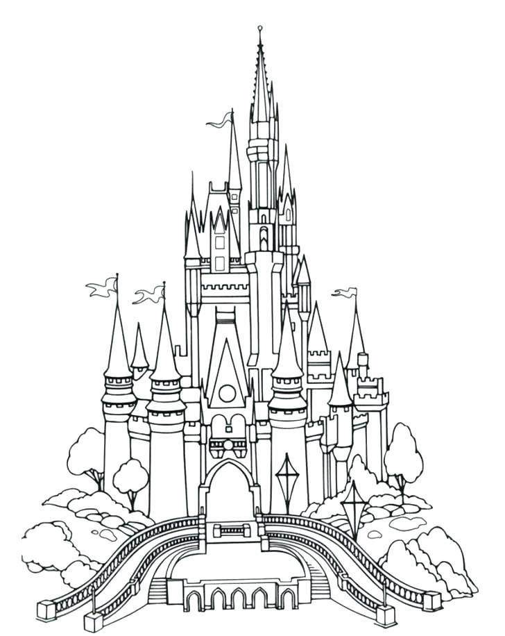 Coloriage Château Disney pour adultes