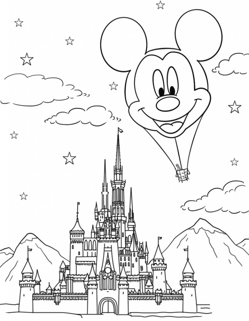 Coloriage Disneyland pour adultes