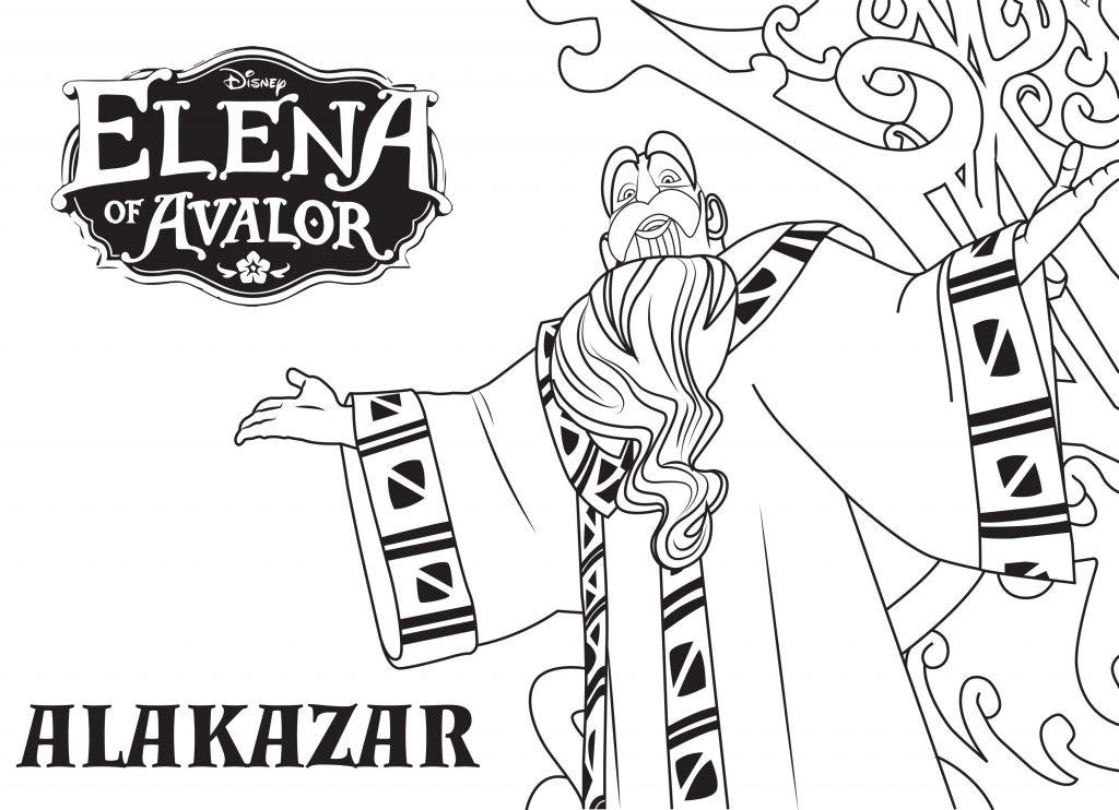 Coloriage Elena d'Avalor - Alakazar
