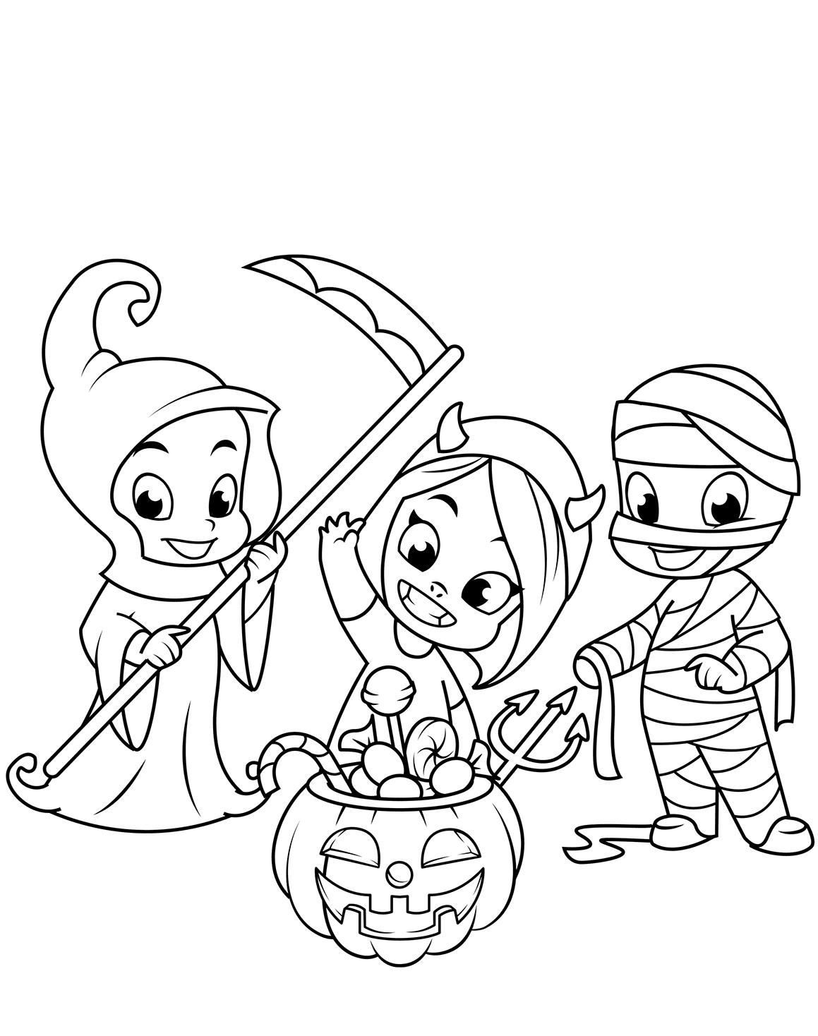 Coloriage de costumes d'Halloween