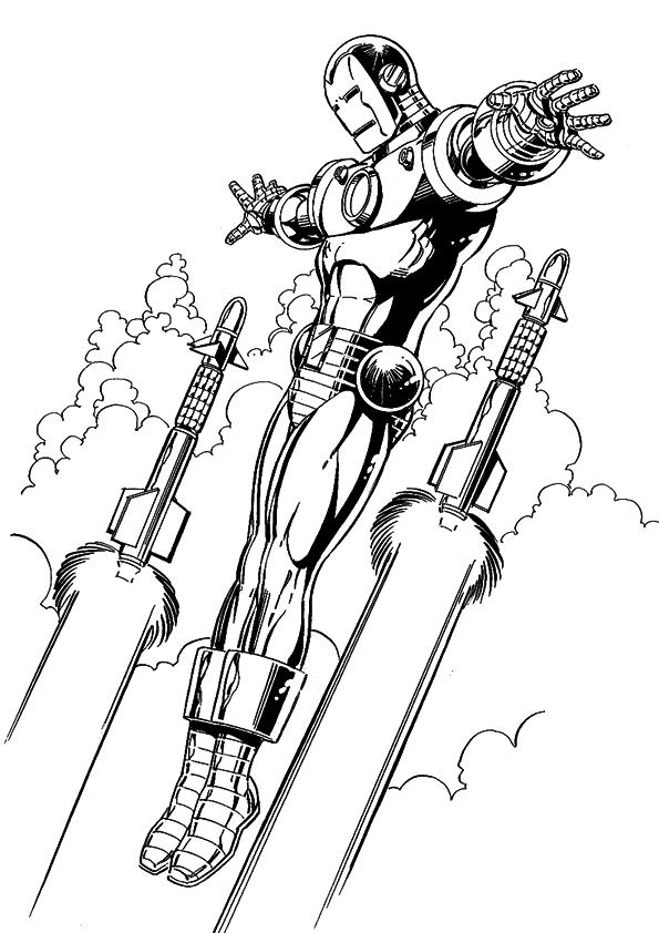 Coloriage de Iron Man
