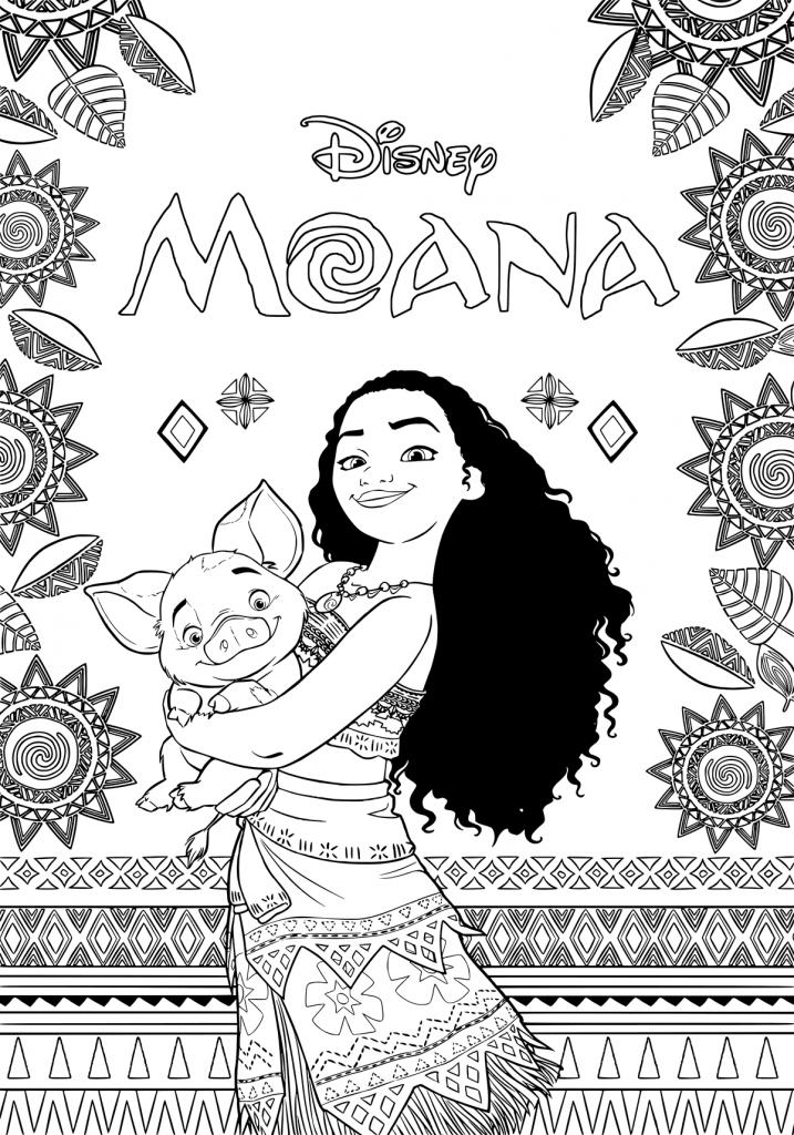 Coloriage Moana