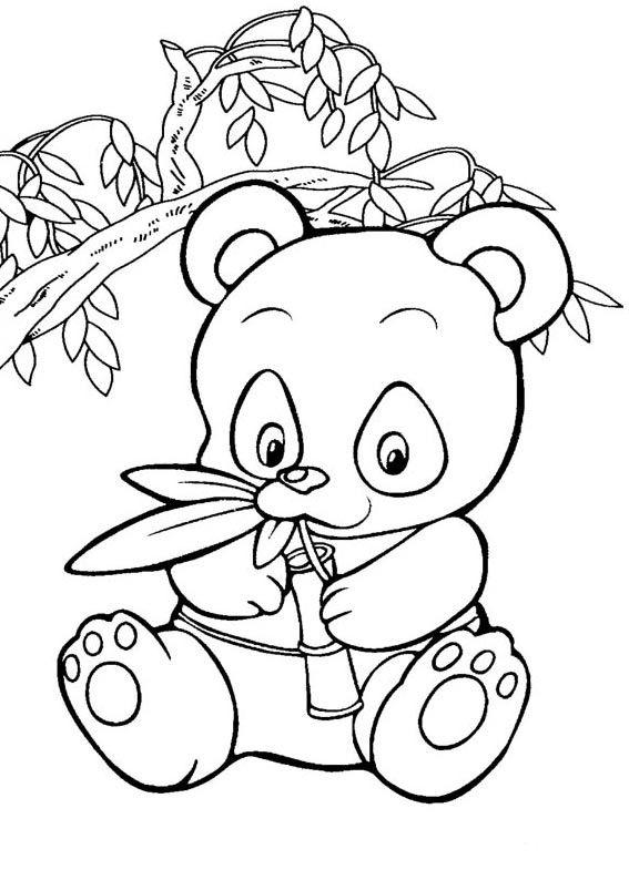 Coloriage bébé panda