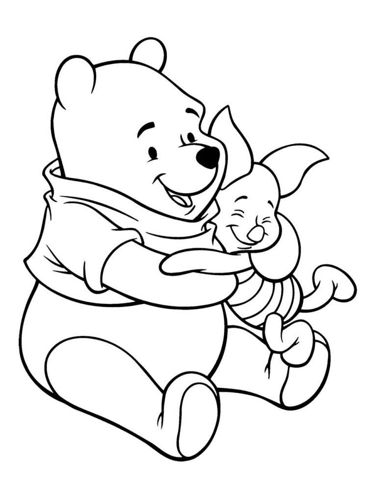 Winnie l'Ourson et Porcinet à colorier
