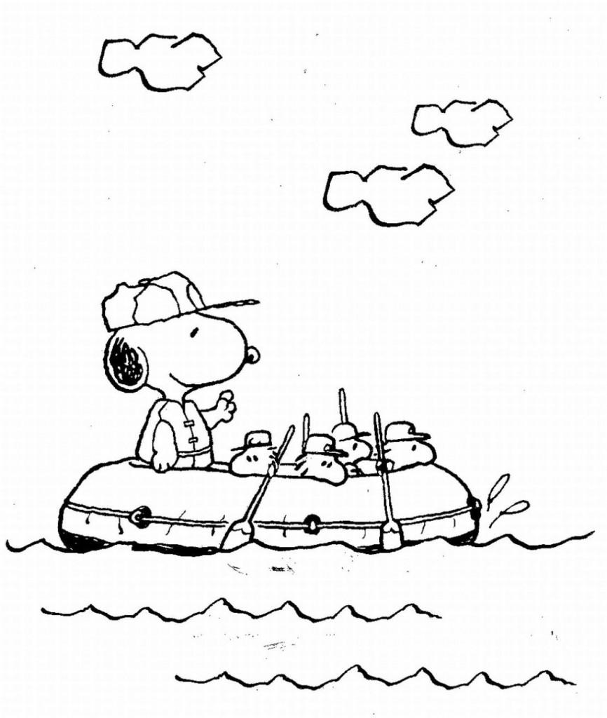 Coloriage bébé Snoopy