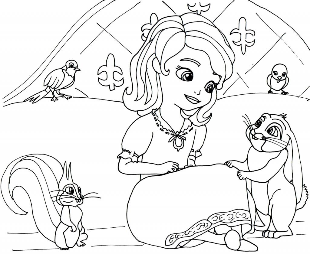 Coloriage Sofia la première princesse