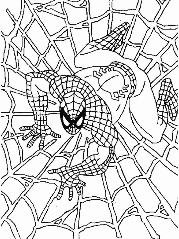 Coloriage Spiderman noir