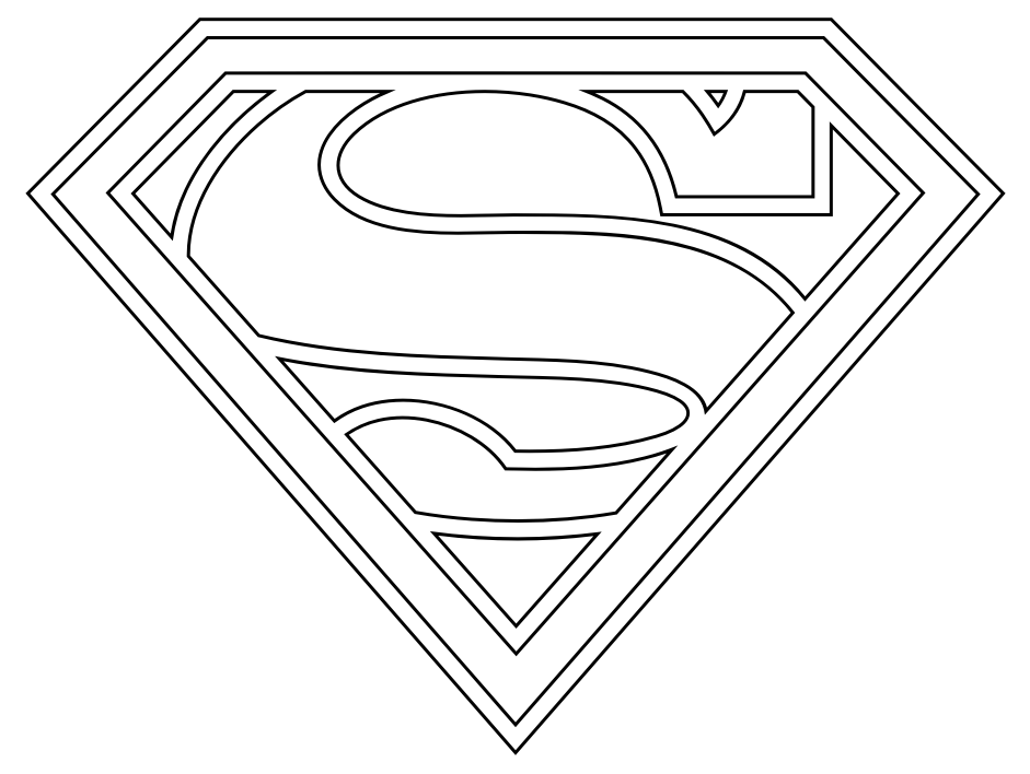 Coloriage Logo Superman
