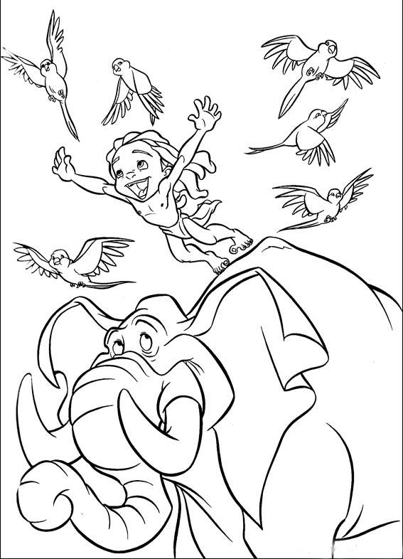 Coloriage Tarzan - Jeune Tarzan