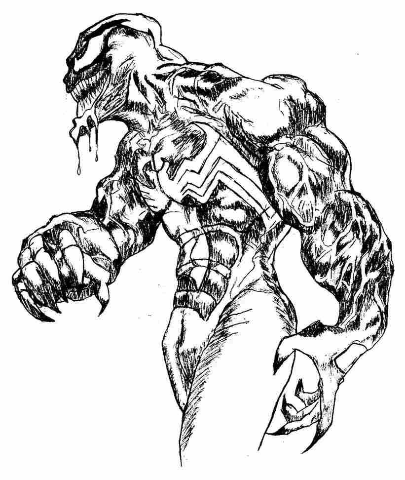Coloriage Venom Spiderman