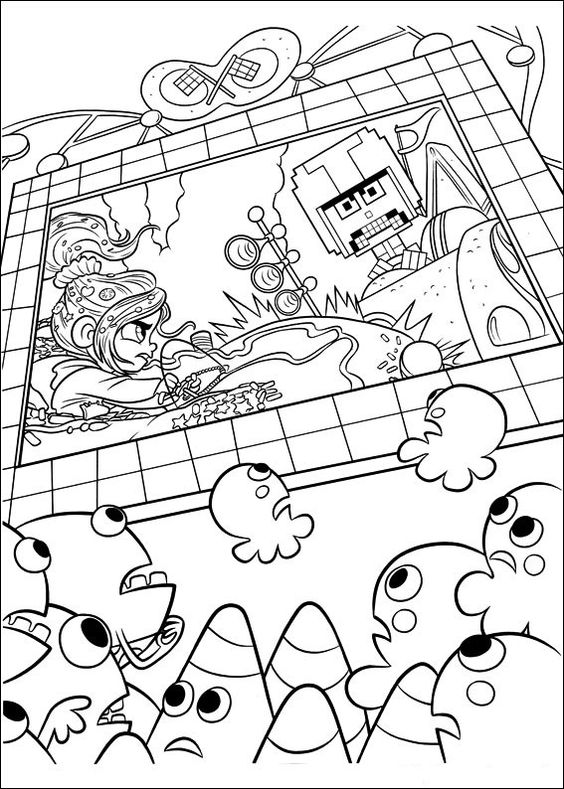 Coloriages Wreck-it Ralph