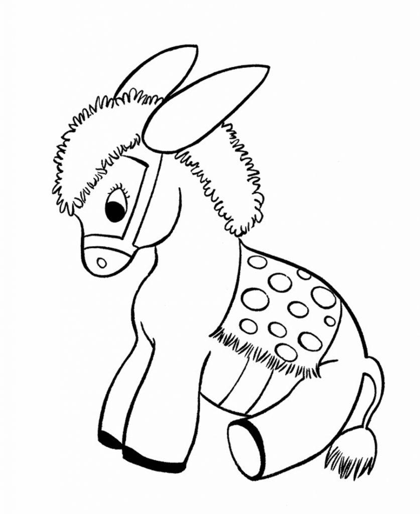 Coloriage bébé âne