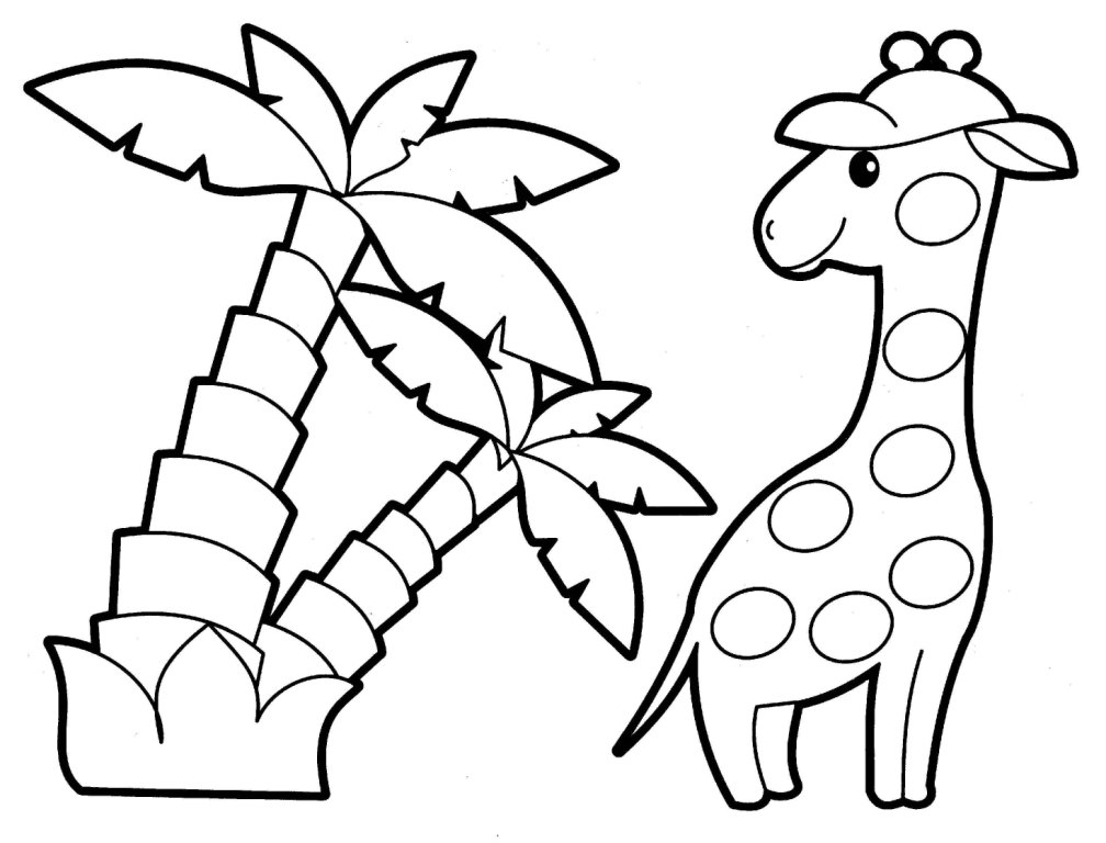 Girafe - Coloriages d'animaux