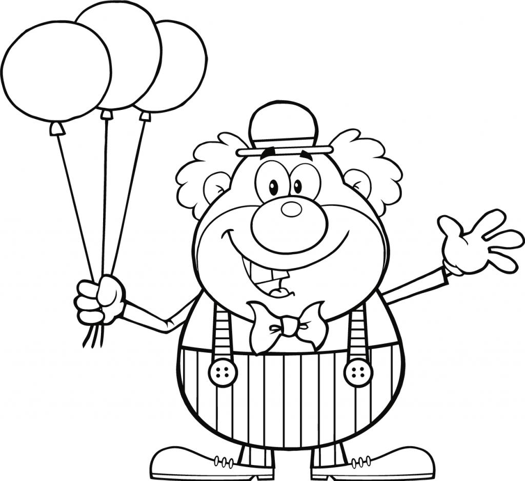 Coloriage ballon clown